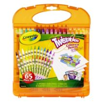 Crayola 65 pcs Twistable Color Pencils & Paper Set