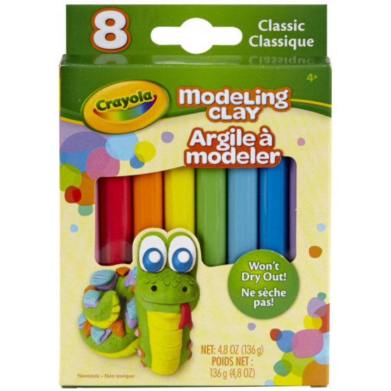 Crayola Modeling Clay Basic 8 Per Pack