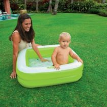 Intex Play Box Inflatable Square Baby Toddler Swimming Pool