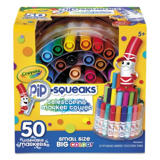 Crayola Telescoping Pip-squeaks Color Markers Tower 50ct