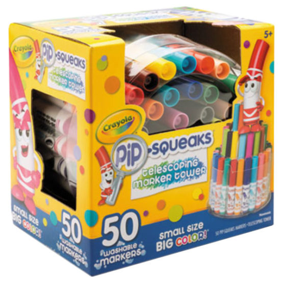 Crayola Telescoping Pip-squeaks Color Markers Tower 50ct - 1