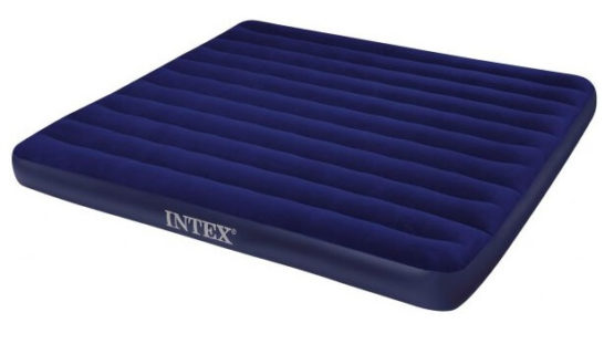 Intex Blue Color Corduroy Air Inflatable Bed Outdoor Mattress