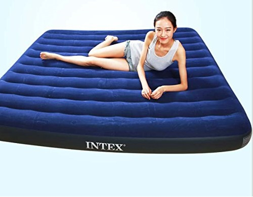 ntex Blue Color Corduroy Air Inflatable Bed Outdoor Mattress-2