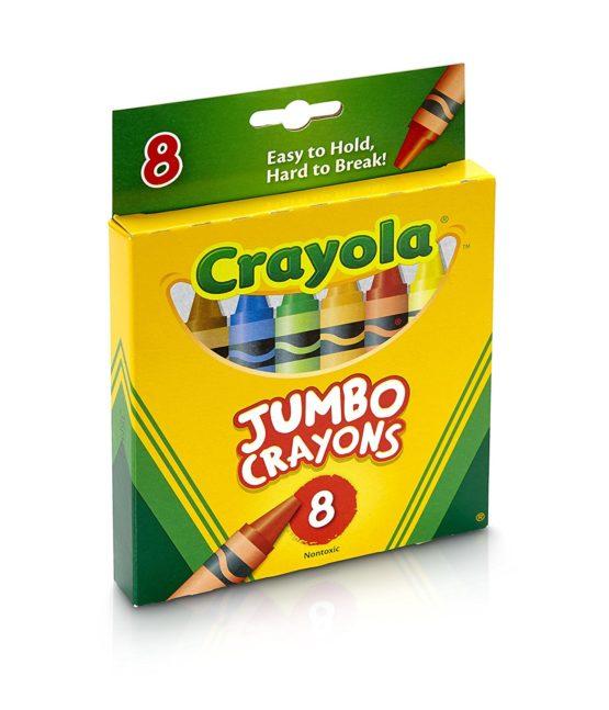 8 Pcs Jumbo Crayons Set School Kids Markers