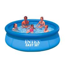 Intex 72 x 20in Easy Set Inflatable Aqua Blue Swimming Pool