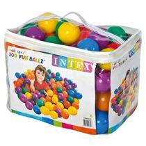Intex Fun Ballz 100 Multi-Colored Plastic 8 cm Balls