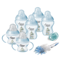 Decorated Bottle Newborn Tommee Tippee Starter Kit Set Blue