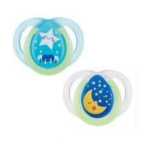 Closer to Nature 2pk Night Time Tommee Tippee Soother