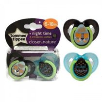 Tommee Tippee Closer To Nature Pack Of 2 Night Time Soother 6-18m
