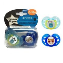 Closer To Nature 2pk Tommee Tippee Air Soother 6-18m