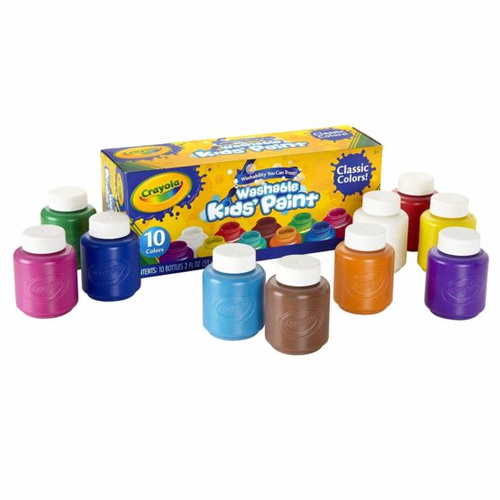 Crayola Washable Kid's Paint 10 Bottles Per Pack