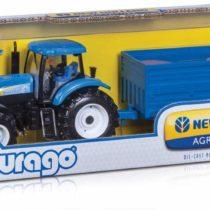 Bburago New Holland Farm Tractor and Trailer