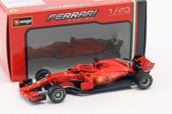 Bburago 2018 Ferrari Racing Formula 1 Car – Style May Vary