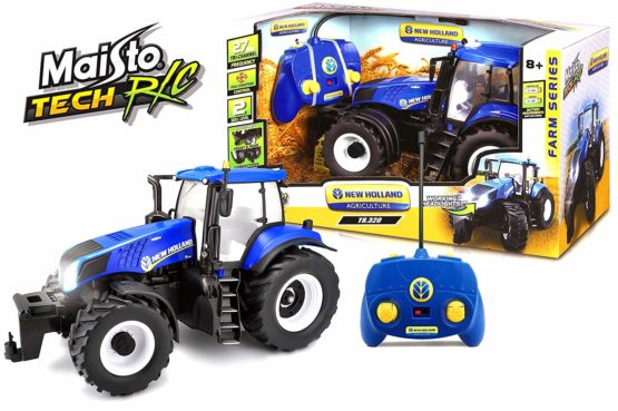 Maisto Tractor with Working Headlights Remote Control Color May Vary