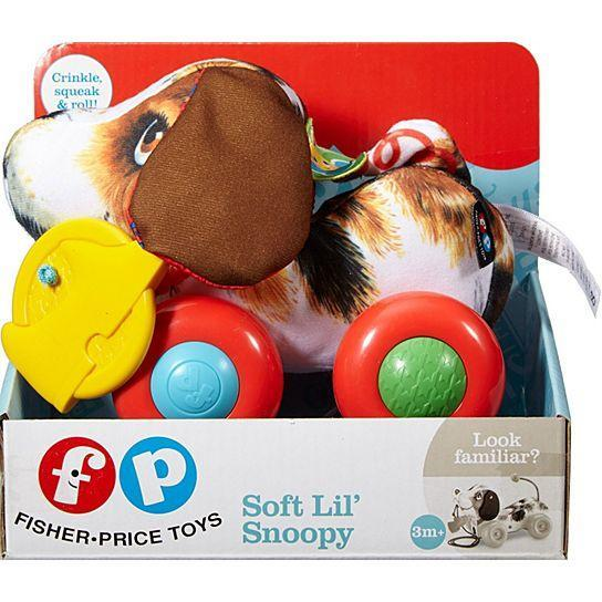 Fisher Price Soft Lil' Snoppy Brown and White