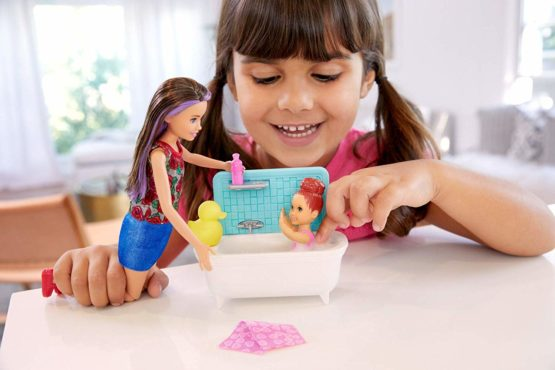 Barbie Babysitters Inc Playset with Bathtub