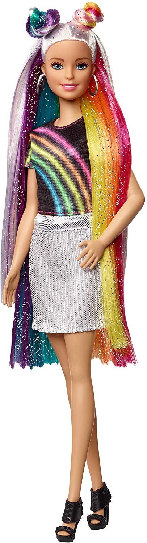 Barbie Rainbow Sparkle Hair Doll - HAT