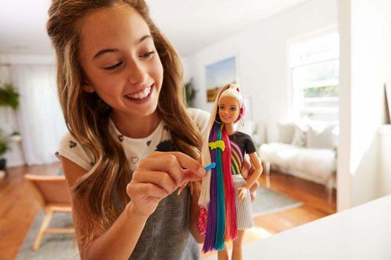 Barbie Rainbow Sparkle Hair Doll – HAT