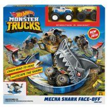 Hot Wheels Monster Trucks Mecha Shark Face-Off Play Set