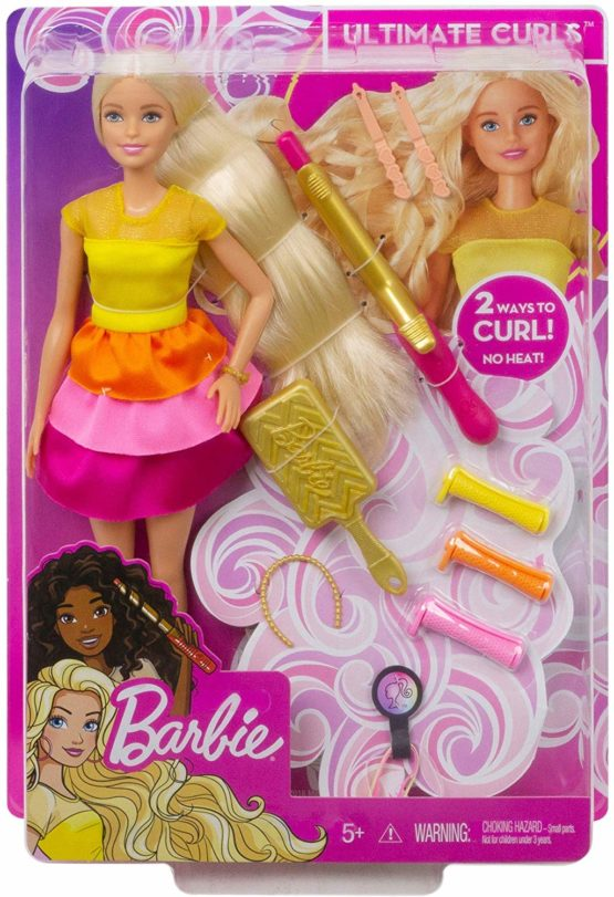 Barbie GBK24 Ultimate Curls Doll and Playset