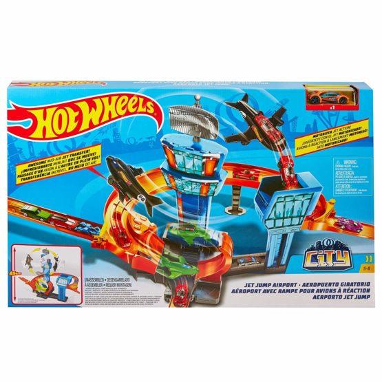 Hot Wheels Jet Jump Airport Play Set