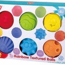 Playgo Rainbow Textured 6 Balls