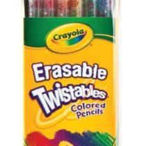 Crayola Twistables Erasable Colored Pencils 12 Assorted