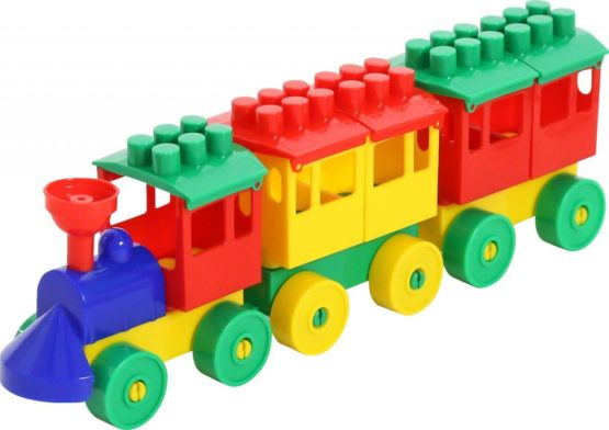 Polisie Locomotive with Three Trailers