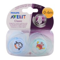 Philips Avent 2 Classic Soother 0-6M – Color May Vary