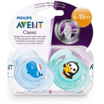 Philips Avent 2 Classic Soother Mix 6-18M – Color May Vary