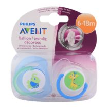 Philips Avent 2 Orthodontic Fashion Soothers 6-18M – Color May Vary