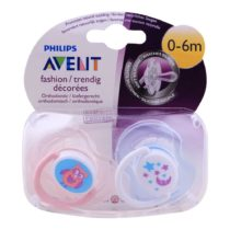 Philips Avent 2 Orthodontic Classic Fashion Soothers 0-6M – Color May Vary