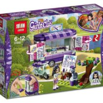 LEPIN Girls Club Emma's Art Stand Van Building Blocks Set