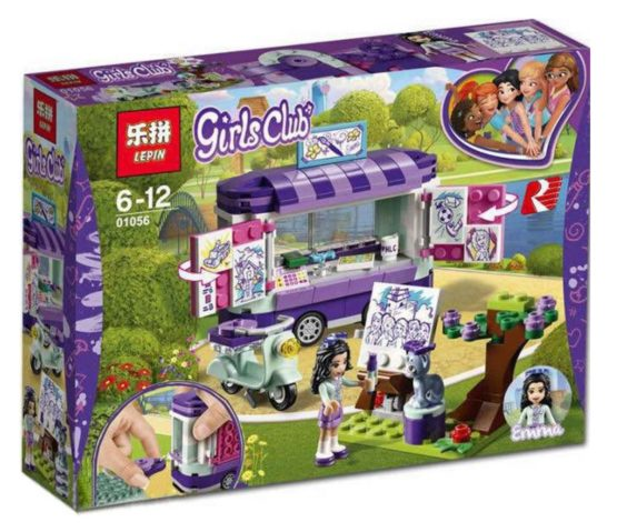 LEPIN Girls Club Emma's Art Stand Van Building Blocks Set
