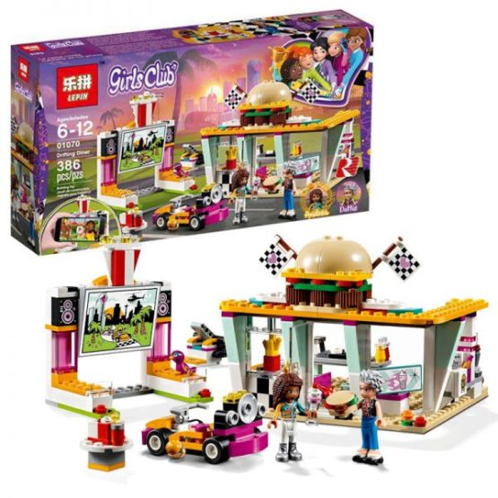 LEPIN Girls Drifting Diner Building Blocks