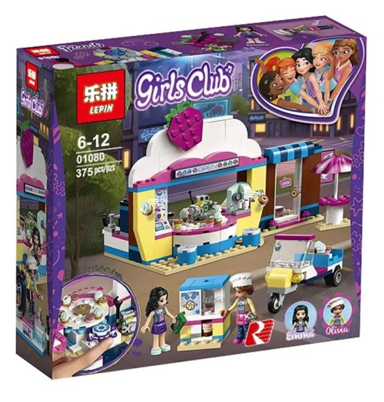 LEPIN Girls Club Olivia's CupCake Cafe Building Blocks Set
