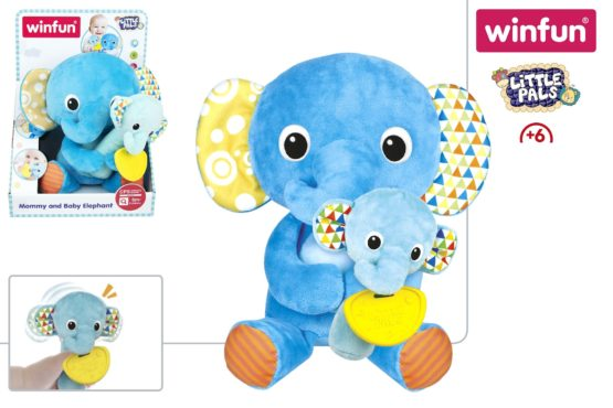 Winfun Little Pals Mommy and Baby Elephant - 3