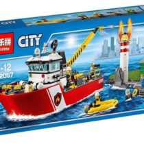 LEPIN City Fire Boat Building Blocks Set