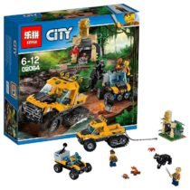 LEPIN Police Series The Jungle Semi-Track Building Blocks Set