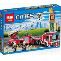 LEPIN City Fire Engine Truck Building Blocks Set