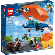 LEPIN City Air Police Arrest Skydiver Building Blocks Set