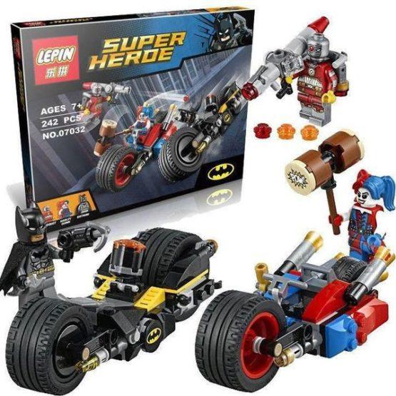LEPIN Super Hero Gotham City Cycle Chase Building Blocks Set