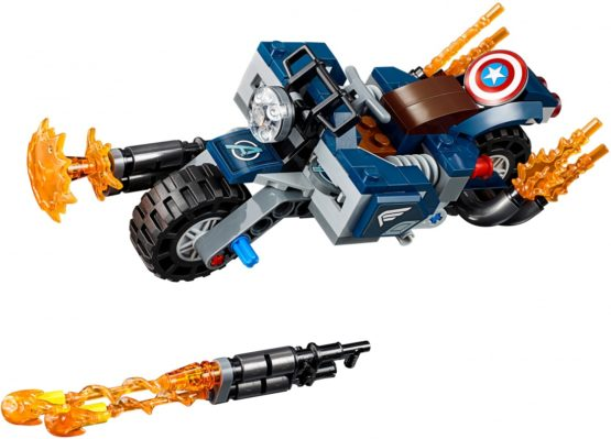 LEPIN Super Heroes Captain America Outriders Attack