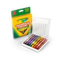 Crayola Anti-Roll Triangular Crayons 8 Count
