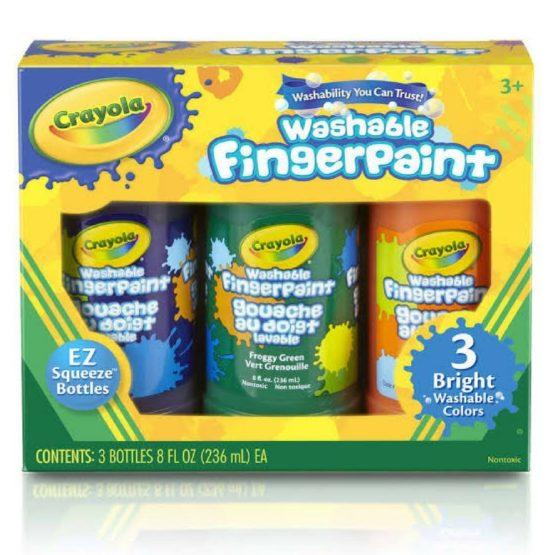 Crayola Washable Bright Fingerpaint 3 Colors