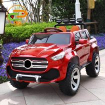 Electric Rechargeable Ride On Jeep With Rubber Tyres- Red