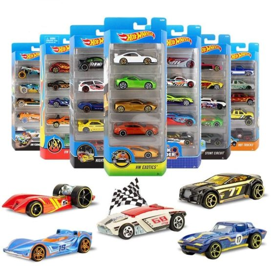 Hot Wheels 5 Cars Pack – Color & Style May Vary