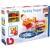 Bburago Street Fire Parking Playset With 2 Cars