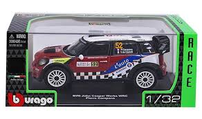 Burago Diecast Rally Cars 1:32 Scale - Color & Style May Vary