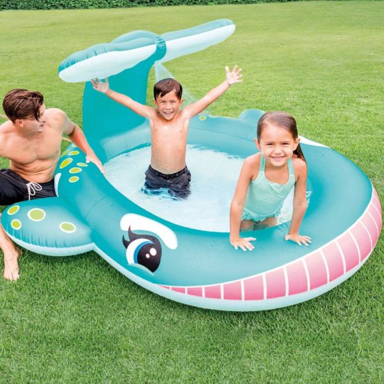 Intex Whale Pool with Sprinkler